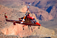 Heavy-lift helicopter over Grand Canyon National Park, AZ