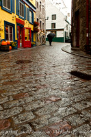 Walking the cobblestones in old Quebec City, Quebec, Canada