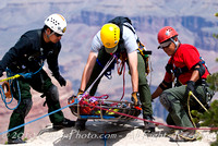 Rescue training, Grand Canyon, Arizona